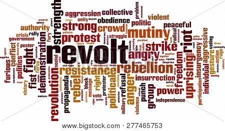 Revolt Word Cloud Concept. Vector Illustration On White