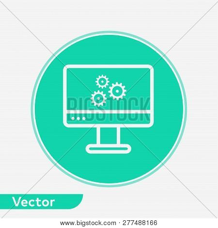 Monitor Settings Icon Vector & Photo (Free Trial) | Bigstock
