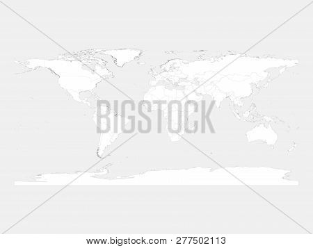 World Map. White Area Image & Photo (Free Trial) | Bigstock