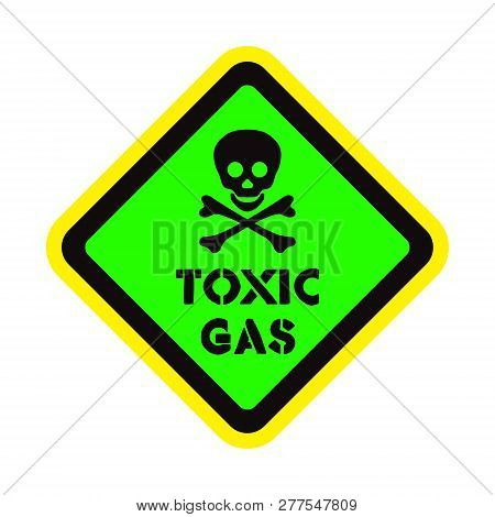 Attention Toxic Gas Vector Sticker On The Colorful Background