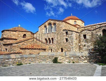 Facade Of Panagia Ekatontapiliani Church, Paros Island