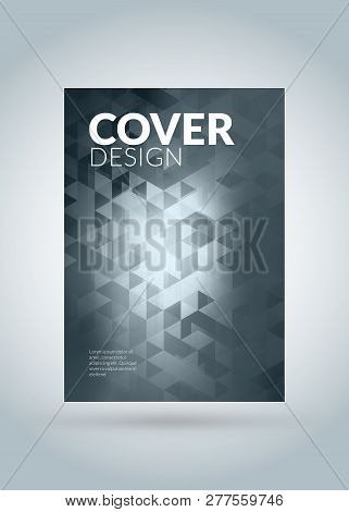 Abstract Vector Business Brochure Cover Or Banner Design Template. Business Flyer Or Poster With Abs