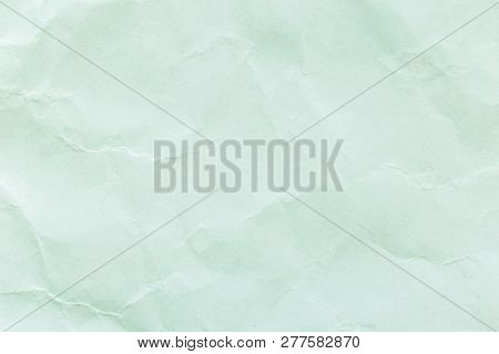 Green Paper Texture Or Paper Background. Seamless Paper For Design. Close-up Paper Texture For Backg