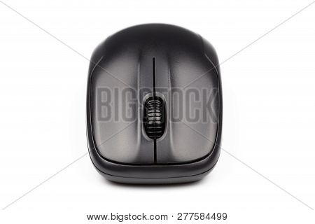 Computer Wireless Mouse Isolated On White Background For Design. Isolated Background. Closeup Comput