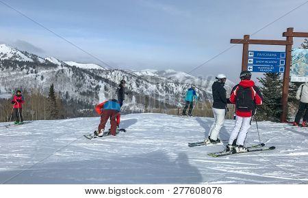 Skiers At Canyons