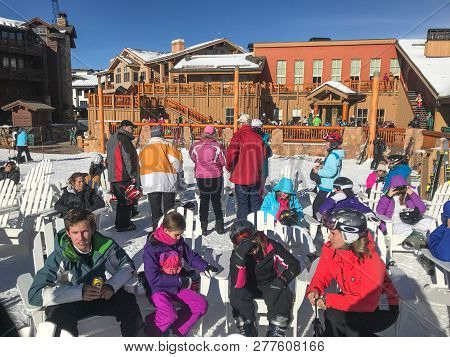Resting During Skiing Day