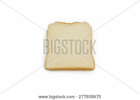 Close-up Of Slices Of Toast Bread Isolated On White Background. Close-up Of Fresh Toast Slices. Slic