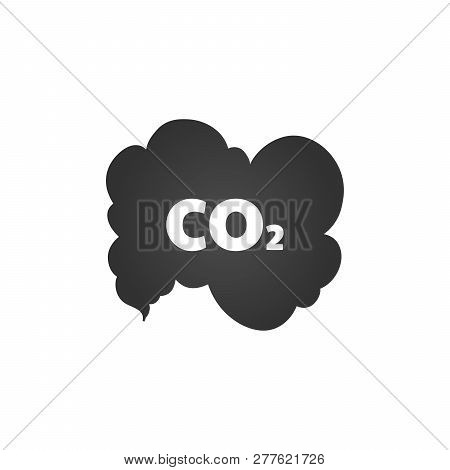 Co2 Emissions Icon Cloud Vector Flat, Carbon Dioxide Emits Symbol, Smog Pollution Concept, Smoke Pol