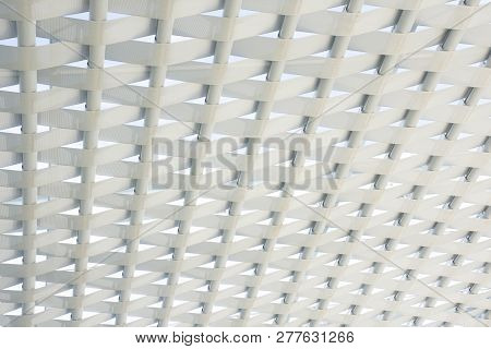 Artistic Ceiling Texture Modern Architecture, White Celling