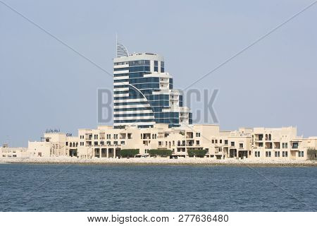 Manama, Bahrain, December 31, 2018: Panoramic View Of Novotel Resort In Manama - From National Museu