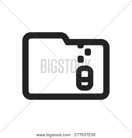 Folder Vector Icon On White Background. Folder Icon In Modern Design Style. Folder Vector Icon Popul