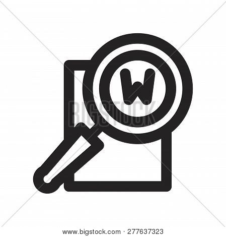 Searching Vector Icon On White Background. Searching Icon In Modern Design Style. Searching Vector I