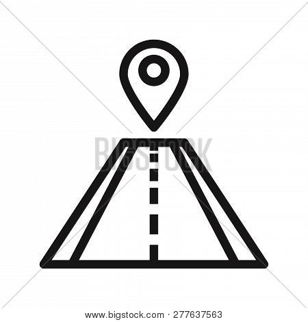 Pin On Road Icon Isolated On White Background. Pin On Road Icon In Trendy Design Style. Pin On Road