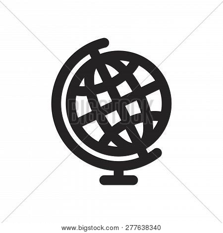 Earth Globe Vector Icon On White Background. Earth Globe Icon In Modern Design Style. Earth Globe Ve