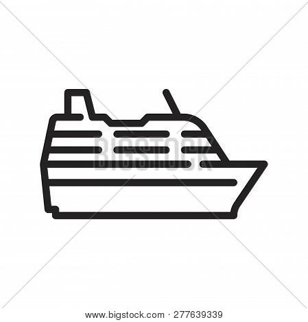 Ship Vector Icon On White Background. Ship Icon In Modern Design Style. Ship Vector Icon Popular And