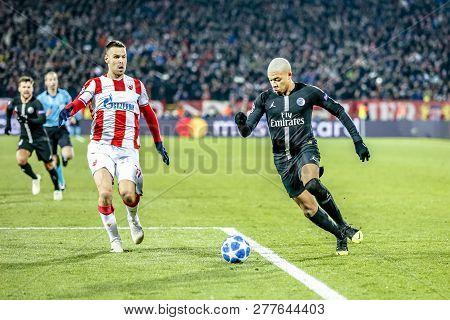 Belgrade, Serbia - December 11, 2018; Kylian Mbappe Lottin Playing On A Uefa Champions League Match