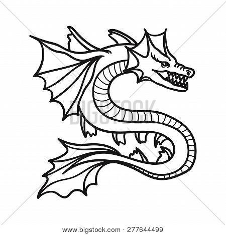 Dragon Icon Isolated On White Background. Dragon Icon In Trendy Design Style. Dragon Vector Icon Mod