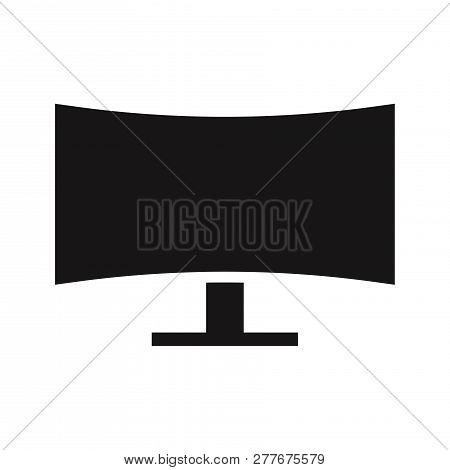 Monitor Icon Isolated On White Background. Monitor Icon In Trendy Design Style. Monitor Vector Icon