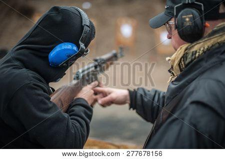 Instructor Zeljko Vujicic Teaches How To Use Automatic Kalashnikov Rifle
