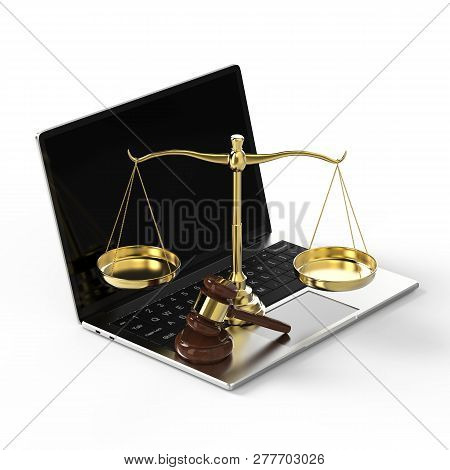 Cyber Law Or Internet Law Concept