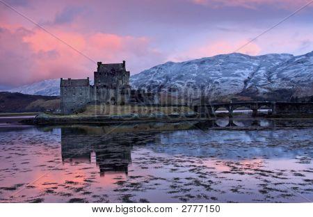 Eilean Donan Castle At Sunrise