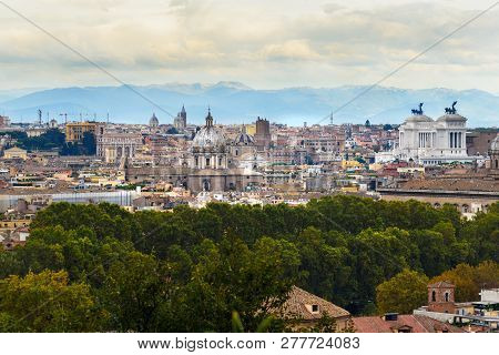 Arial View Rome City Image Photo Free Trial Bigstock
