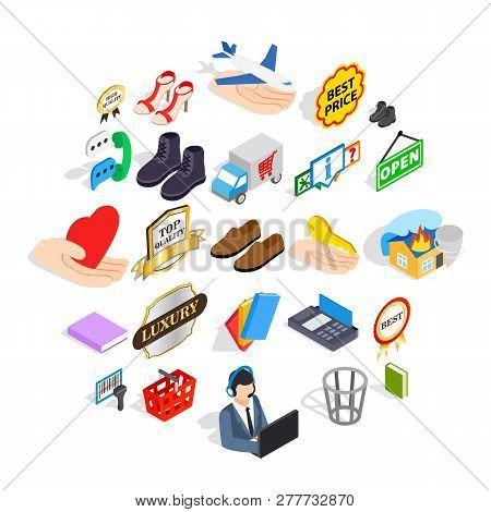 Entrepreneur Icons Set. Isometric Set Of 25 Entrepreneur Vector Icons For Web Isolated On White Back