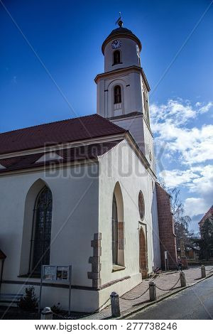 Bolkow, Poland, February 26,2012: The Roman Catholic Church Of St. Hedwig Dating Back To The 13th Ce