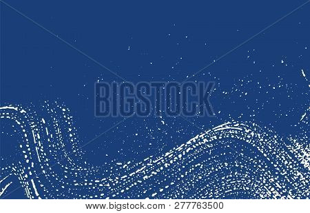 Grunge texture. Distress indigo rough trace. Exotic background. Noise dirty grunge texture. Tempting artistic surface. Vector illustration. poster