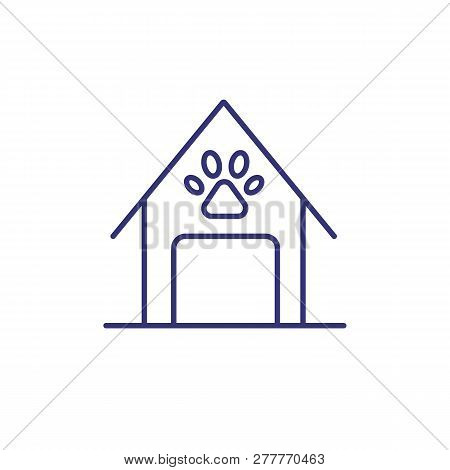 Doghouse Line Icon. Domestic Dog, Watchdog, Pet Accessory. Veterinary Concept. Vector Illustration C