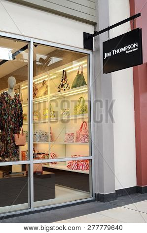 Genting Highlands, Malaysia- Dec 03, 2018 : Jim Thompson Store In Genting Highlands Premium Outlet,