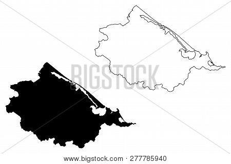 Thua Thien-hue Province (socialist Republic Of Vietnam, Subdivisions Of Vietnam) Map Vector Illustra