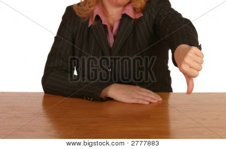 Business Woman Setting At Desk_5