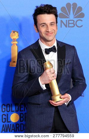 BEVERLY HILLS - JAN 6: Justin Hurwitz at the 76th Annual Golden Globe Awards at The Beverly Hilton Hotel on January 6, 2019 in Beverly Hills, California