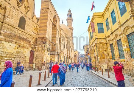 Cairo, Egypt - December 20, 2017: The Historical Al-muizz Street Is A Very Photogenic Place To Make