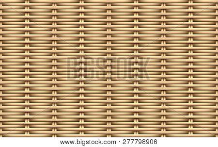 Seamless 3d Weave Rattan Pattern, Vector Art Design
