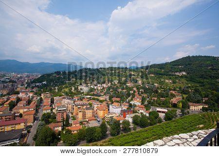 July 6, 2013. Italy City Of Brescia. Old European City Of Brescia In The Lombardy Region In Summer