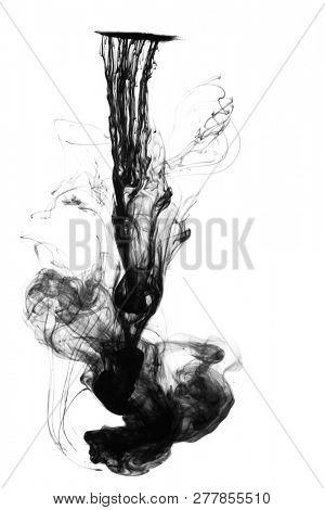 Ink floating in water