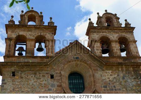 Plaza De Armas In Cuso Of Peru