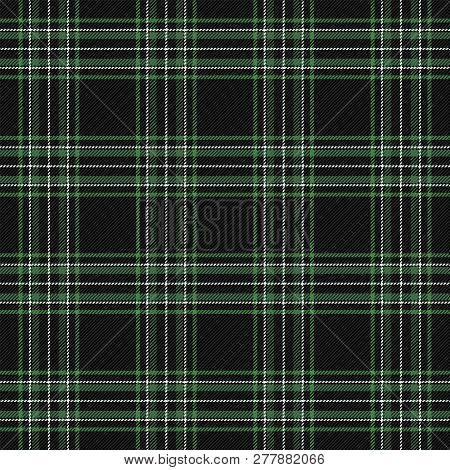 Tartan Plaid. Scottish Pattern In Black, Red And Green Cage. Checkered Plaid In Christmas Colors. Sc