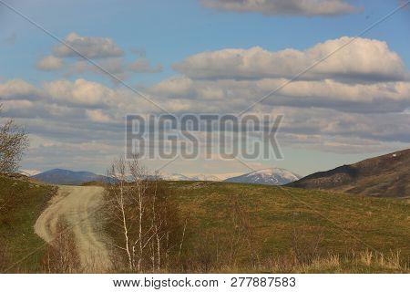 Nature, Landscape, Landscape, Mountains, Road, Sky, Clouds, Spring, Beauty