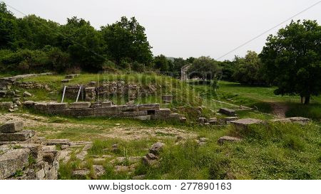 Ruins Of An Ancient Greek City Of Apollonia At Fier County, Albania