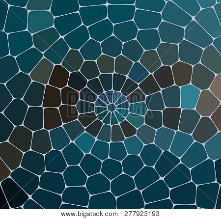 Abstract Mosaic Pattern. Abstract Background Consisting Of Elements Of Different Shapes Arranged In