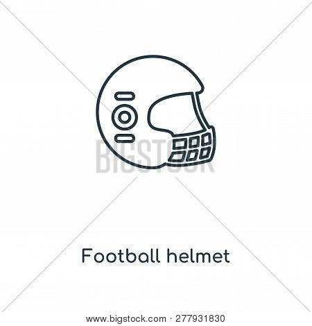 Football Helmet Icon In Trendy Design Style. Football Helmet Icon Isolated On White Background. Foot