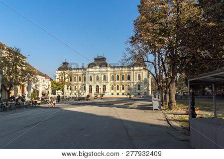 Sremski Karlovci, Vojvodina, Serbia - November 11, 2018: Panorama Of Center Of Town Of Srijemski Kar