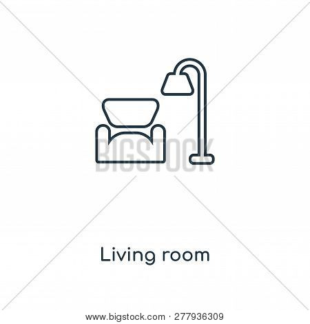 Living Room Icon In Trendy Design Style. Living Room Icon Isolated On White Background. Living Room