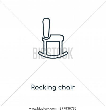 Rocking Chair Icon In Trendy Design Style. Rocking Chair Icon Isolated On White Background. Rocking