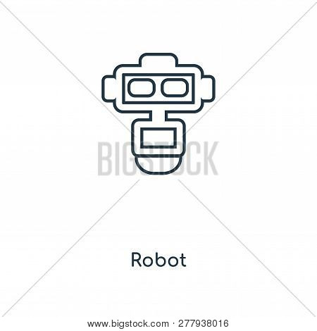 Robot Icon In Trendy Design Style. Robot Icon Isolated On White Background. Robot Vector Icon Simple