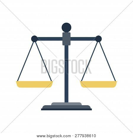Empty Scales. Scales Of Justice. Law Balance Symbol. Libra. Vector Illustration