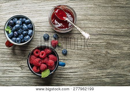 Homemade Marmalade Or Jam From Fresh Mixed Berries